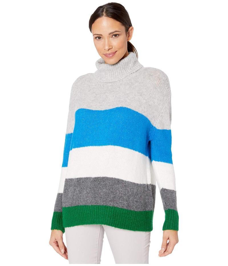 ヴィンスカムート レディース ニット・セーター アウター Long Sleeve Color Block Turtleneck Sweater Peacock