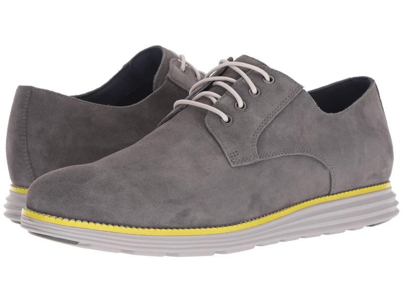 コールハーン メンズ オックスフォード シューズ Original Grand Plain Toe Magnet Suede/Vapor Grey/Sulphur Spring