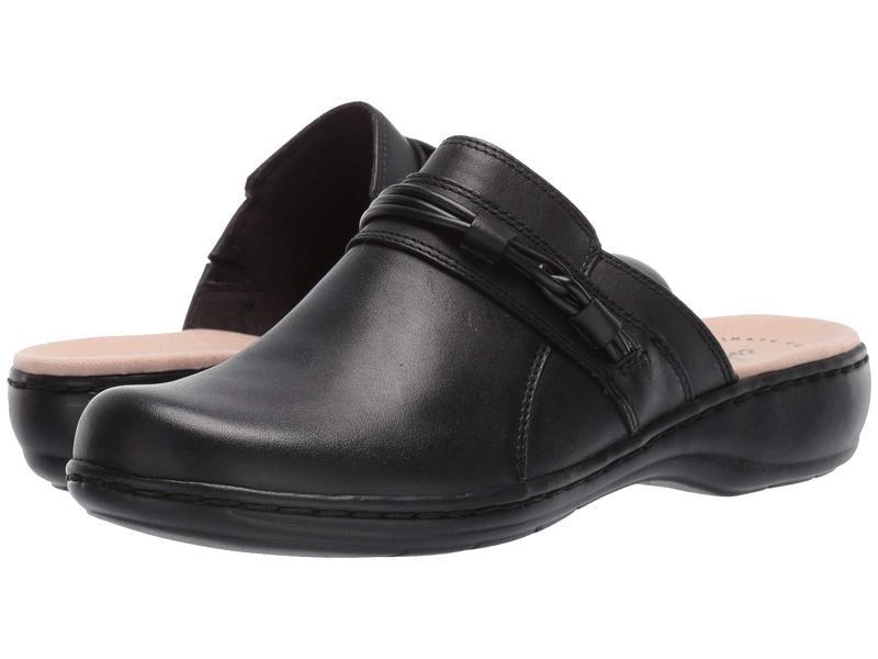 クラークス レディース サンダル シューズ Leisa Clover Black Leather