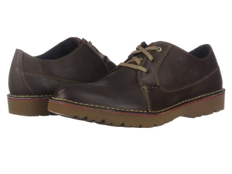 クラークス メンズ オックスフォード シューズ Vargo Plain Dark Brown Leather