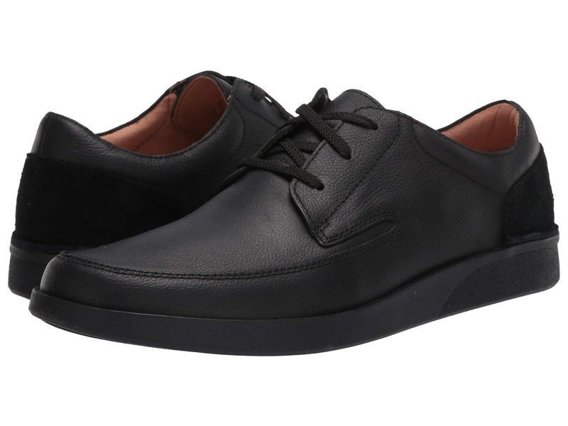 クラークス メンズ オックスフォード シューズ Oakland Craft Black Leather