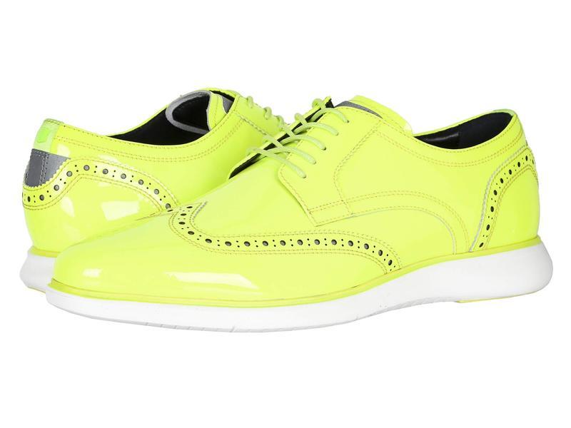フローシャイム メンズ オックスフォード シューズ Fuel Neon Wingtip Oxford Lime