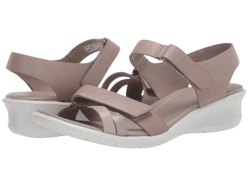 エコー レディース ヒール シューズ Felicia Ankle Strap Sandal Grey Rose/Mon Rock Silver/Moon Rock Calf Leather/Cow Leather/Cow