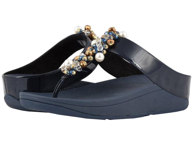 フィットフロップ レディース サンダル シューズ Deco Toe Thong Sandals Midnight Navy