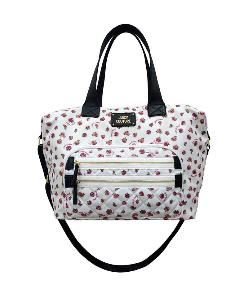 ジューシークチュール レディース ボストンバッグ バッグ Neon Lights Duffel Bag White/Ditsy Rose