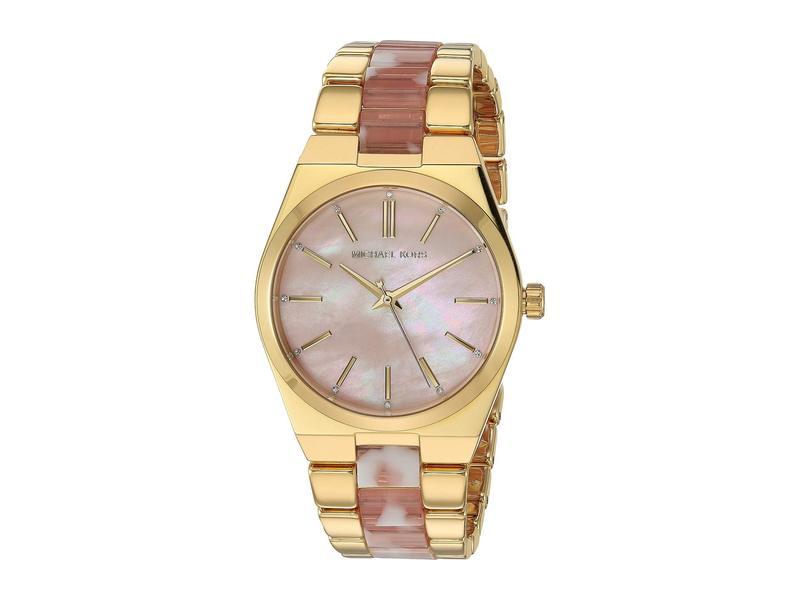 マイケルコース レディース 腕時計 アクセサリー MK6650 - Channing Gold/Pink
