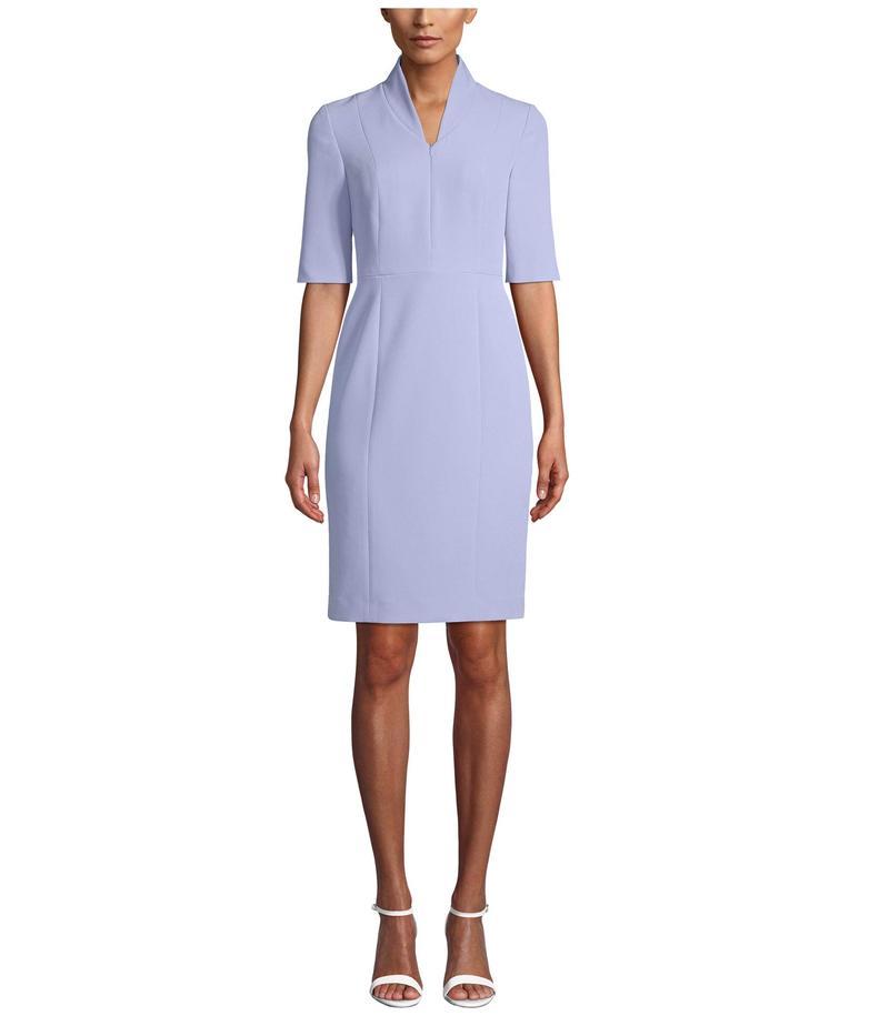 アンクライン レディース ワンピース トップス Zip Front 3/4 Sleeve Sheath Dress High Sky