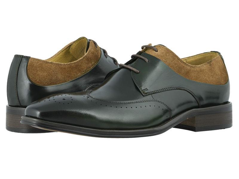 ステイシーアダムス メンズ オックスフォード シューズ Hewlett Wing Tip Oxford Olive/Tan