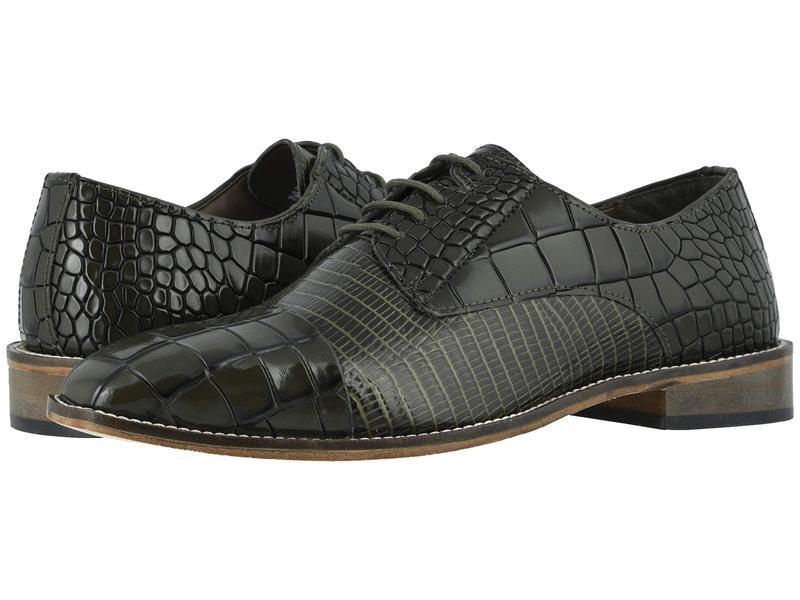 ステイシーアダムス メンズ オックスフォード シューズ Talarico Leather Sole Cap Toe Oxford Olive