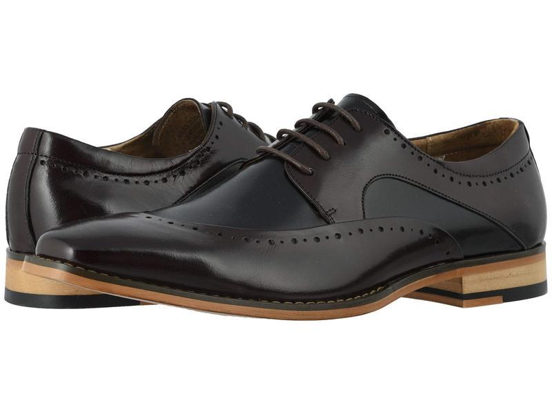 ステイシーアダムス メンズ オックスフォード シューズ Tammany Folded Moc Toe Oxford Burgundy/Black
