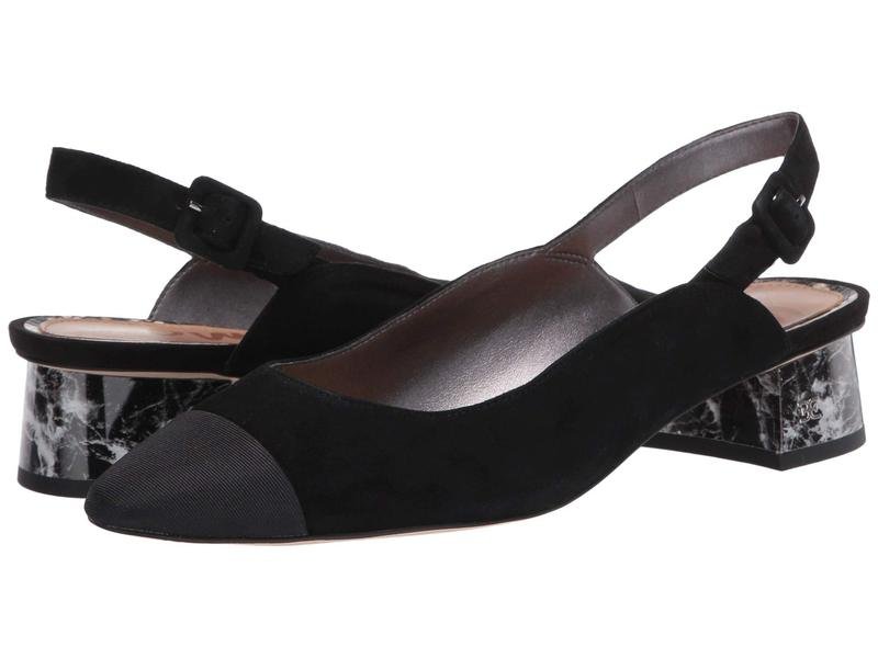 サムエデルマン レディース ヒール シューズ Sadira Black Suede Leather/Dress Grosgrain