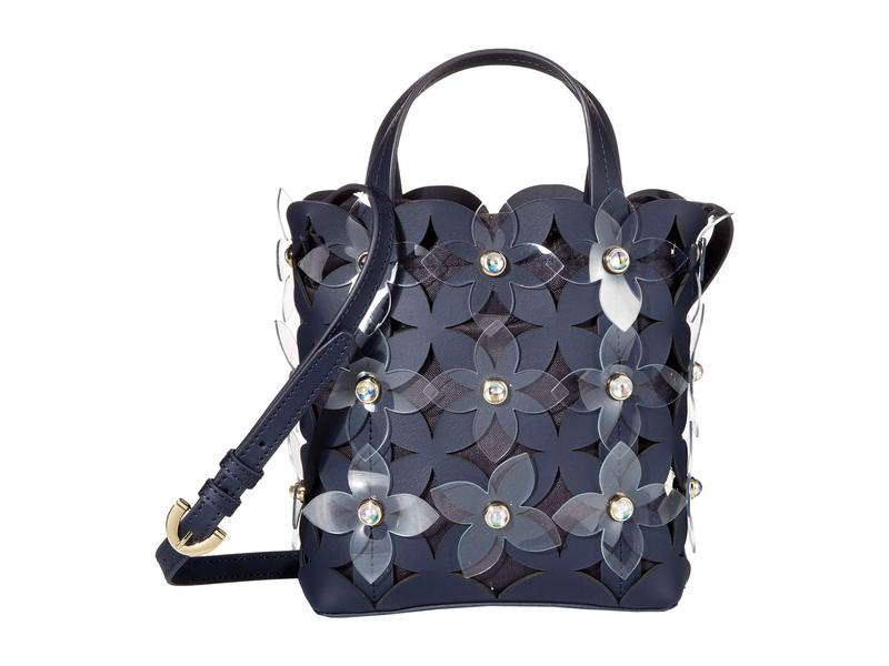 ザックポーゼン レディース ハンドバッグ バッグ Floral Bouquet Small North/South Shopper- Solid Parisian Nights