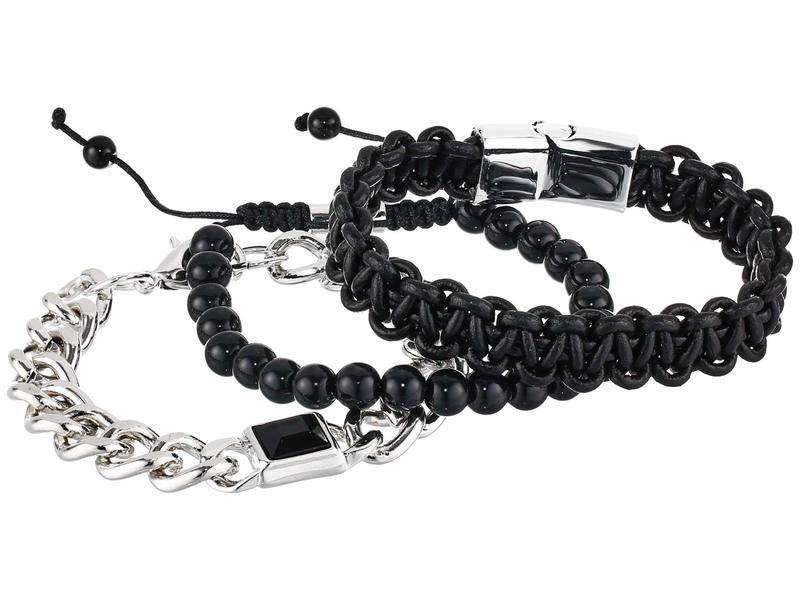 スティーブ マデン メンズ 腕時計 アクセサリー SMWS093 Watch Set Black 1