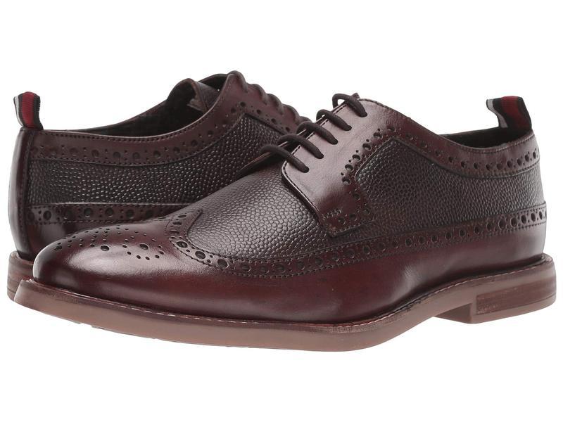 ベンシャーマン メンズ オックスフォード シューズ Birk Long Wing Chocolate Leather
