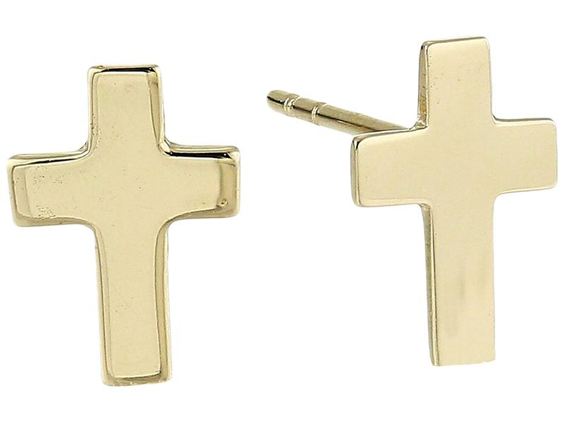 ディーバークレイ レディース ピアス・イヤリング アクセサリー 14Kt Solid Gold Cross Stud Earrings Gold