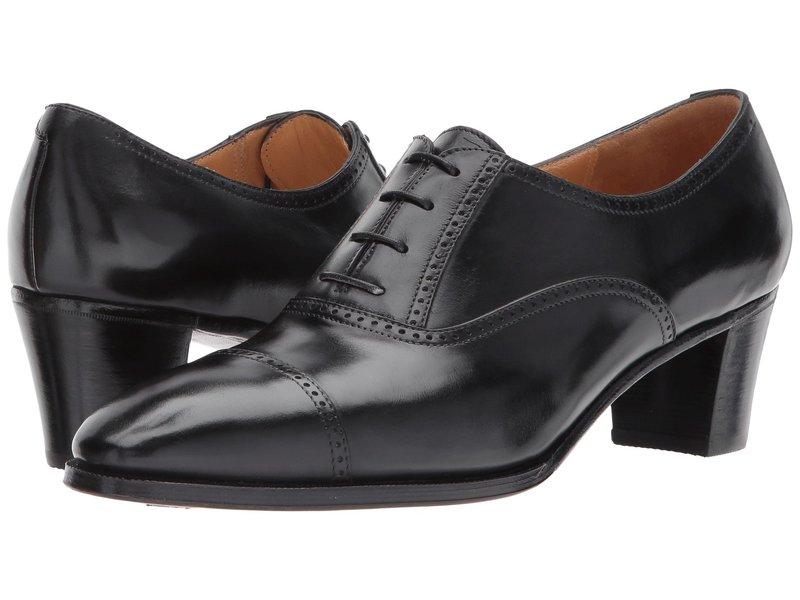 グラベティ レディース オックスフォード シューズ Mid-Heel Cap Toe Oxford Black