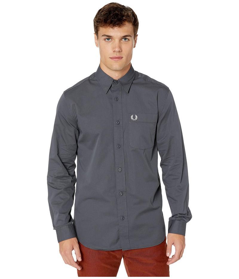 フレッドペリー メンズ シャツ トップス Button-Down Shirt Charcoal