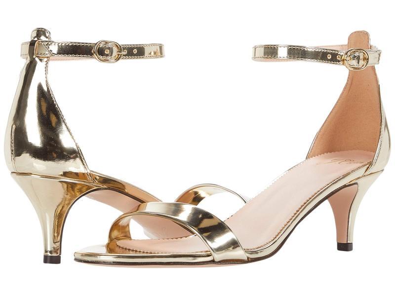 ジェイクルー レディース ヒール シューズ Basic Kitten Heel Sandal Gold Mirror Metallic