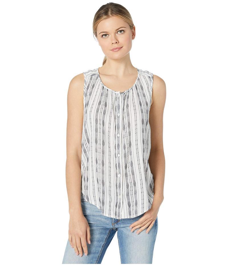 ラッキーブランド レディース シャツ トップス Striped Sleeveless Shirt Natural Multi
