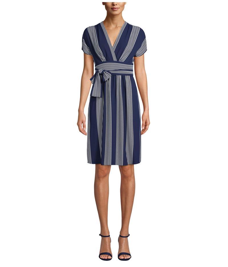 アンクライン レディース ワンピース トップス Bilbeo Stripe V-Neck Wrap Dress Distant Mountain/Anne White