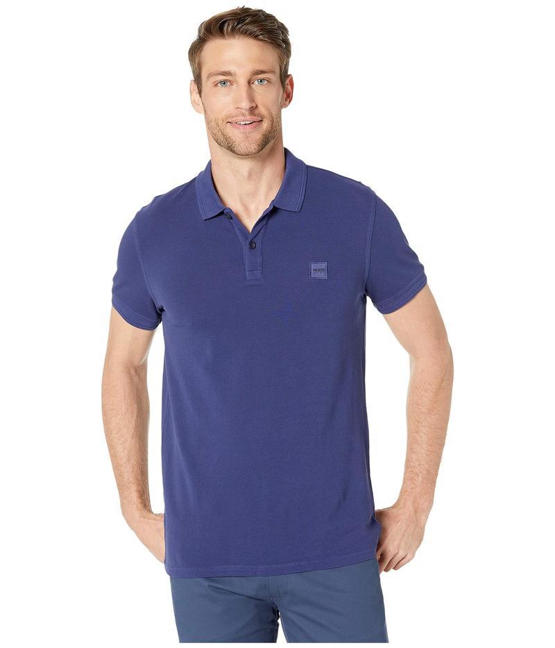 ヒューゴボス メンズ シャツ トップス Prime Polo Medium Blue