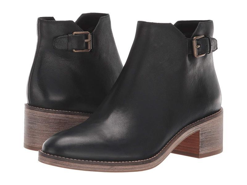 コールハーン レディース ブーツ・レインブーツ シューズ Harrington Grand Buckle Boot Black Leather