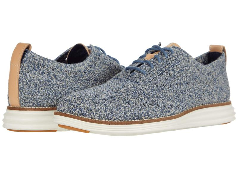コールハーン メンズ オックスフォード シューズ Original Grand Stitchlite Wing Tip Oxford Safari/Vintage Indigo Knit/Ivory