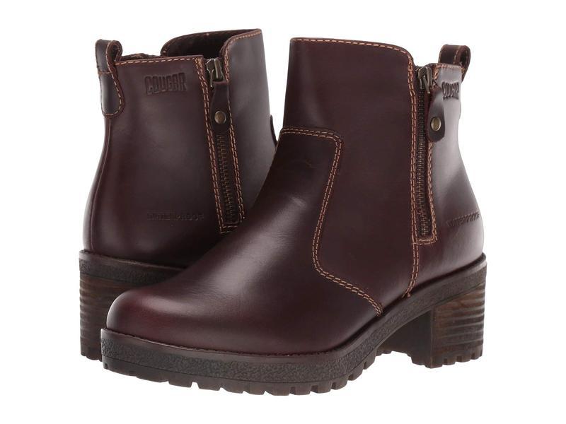 クーガー レディース ブーツ・レインブーツ シューズ Dayton Waterproof Cask Leather