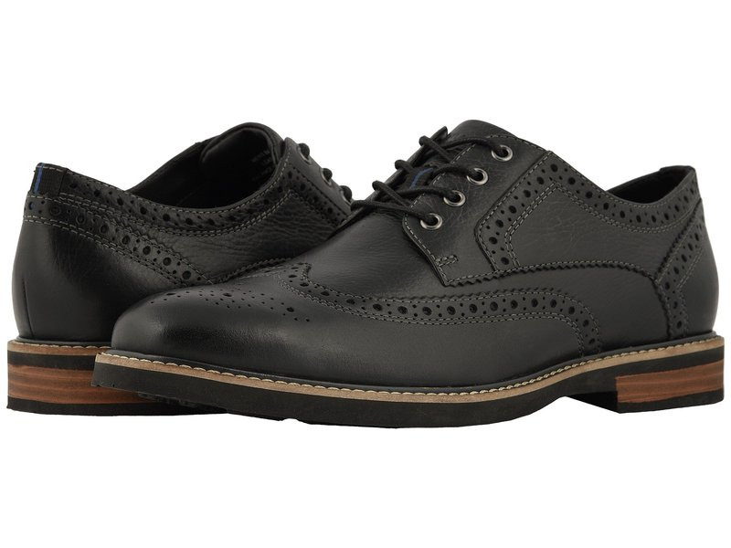 ノンブッシュ メンズ オックスフォード シューズ Oakdale Wingtip Oxford with KORE Walking Comfort Technology Black Tumbled