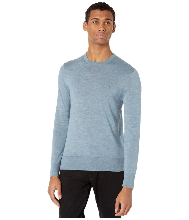 オールセインツ メンズ ニット・セーター アウター Mode Merino Crew Sweater Haze Blue Marl