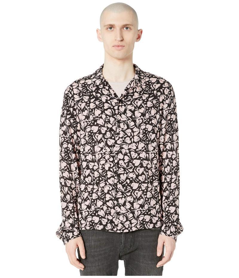 【50%OFF】 オールセインツ メンズ シャツ トップス Heartbreak Long Sleeve Shirt Black/Granite Pink, ジーパンセンターサカイ 83c61af6