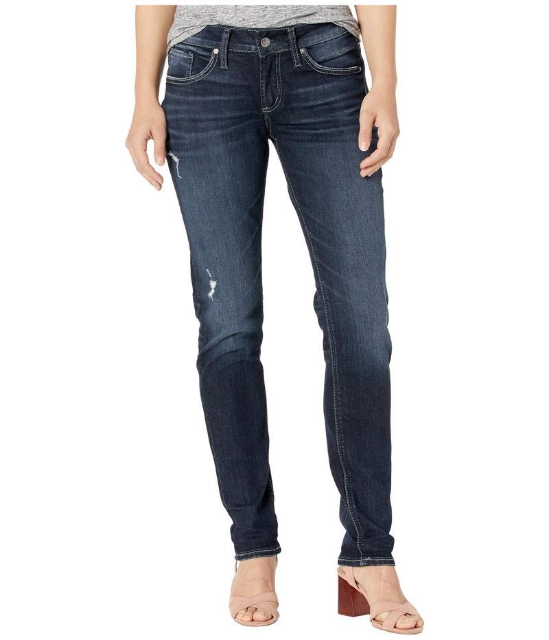 シルバー ジーンズ レディース デニムパンツ ボトムス Avery High-Rise Curvy Fit Straight Leg Jeans L94443SSX396 Indigo
