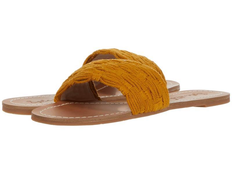 スプレンディット レディース サンダル シューズ Marilyn Sunflower Yellow Cotton Woven