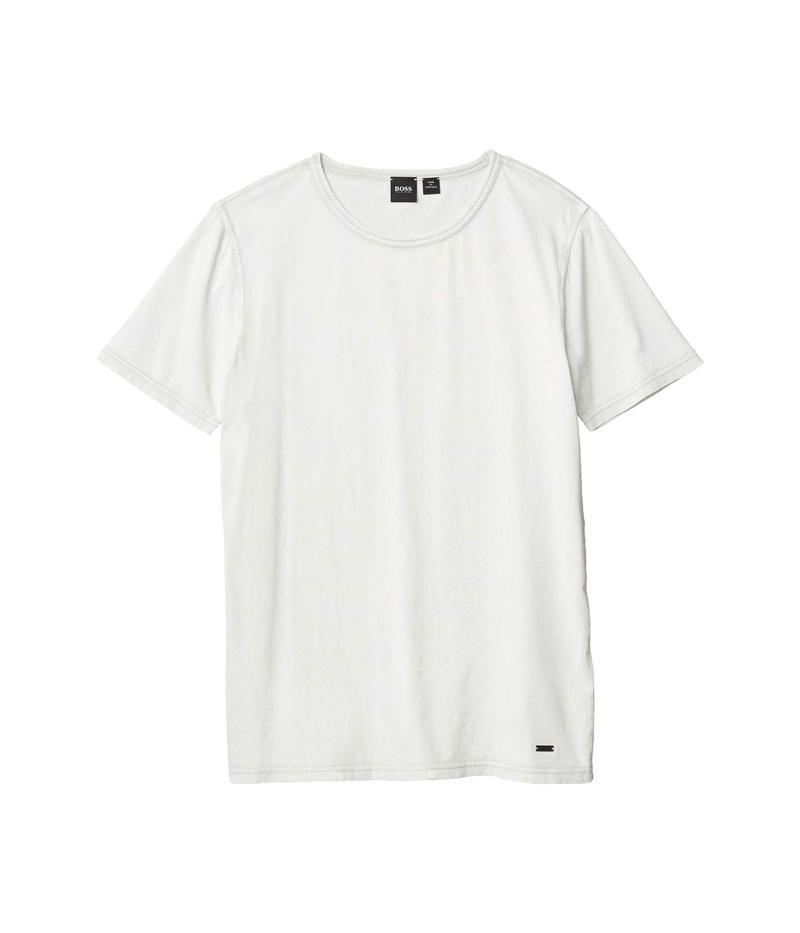 ヒューゴボス メンズ シャツ トップス Tokks Garment Dyed Tee Silver