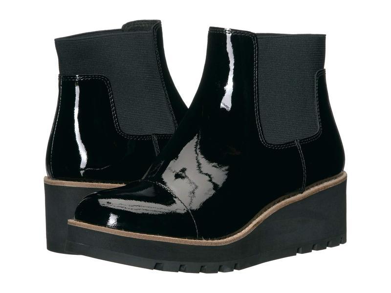 エイリーンフィッシャー レディース ブーツ・レインブーツ シューズ Chelsea Black Patent Leather