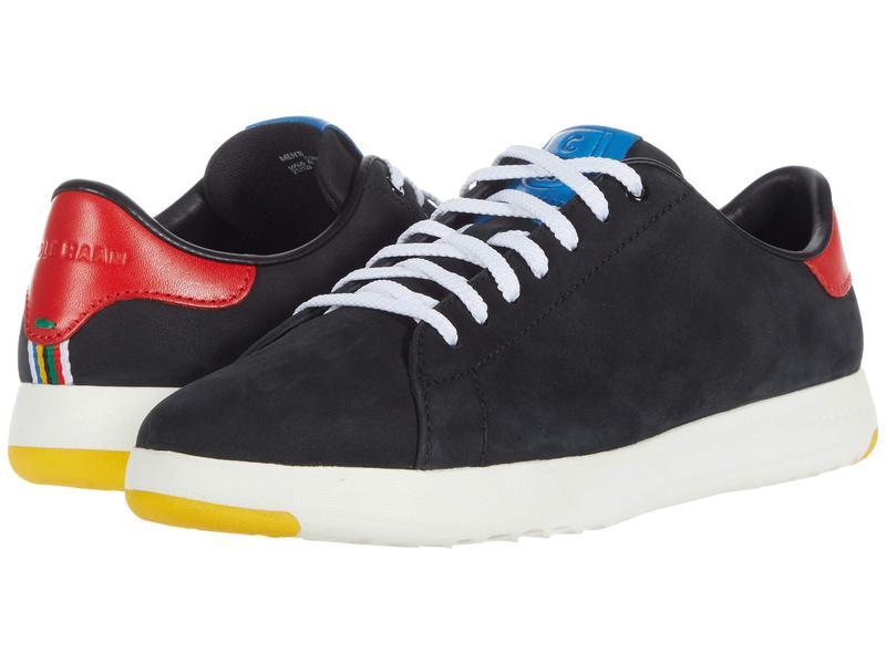 コールハーン メンズ スニーカー シューズ GrandPro Tennis Sneaker Black Nubuck/Flame/Blue