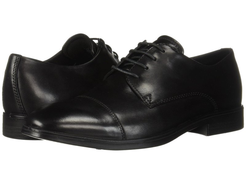エコー メンズ オックスフォード シューズ Melbourne Cap Toe Tie Black