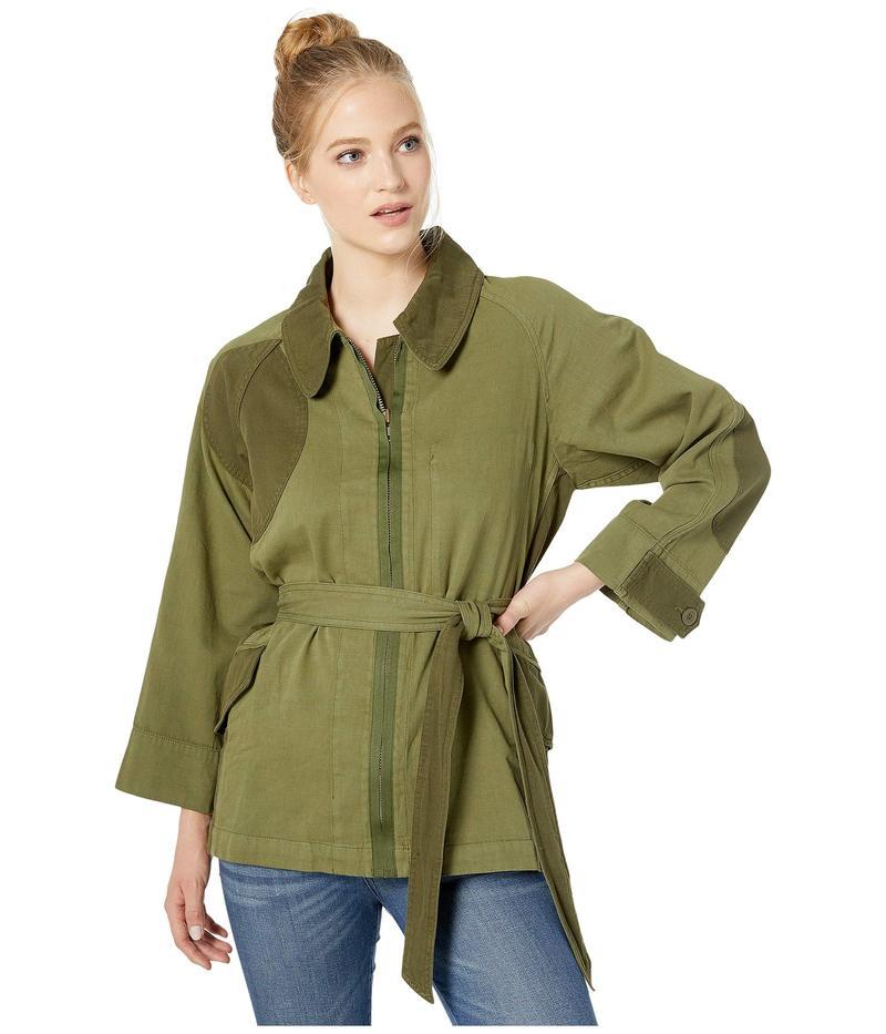 超歓迎された カレント エリオット レディース コート アウター The Relaxed Military Jacket Army Green, サマニチョウ 6fc56477