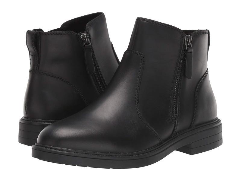クーガー レディース ブーツ・レインブーツ シューズ Harley Waterproof Black Leather