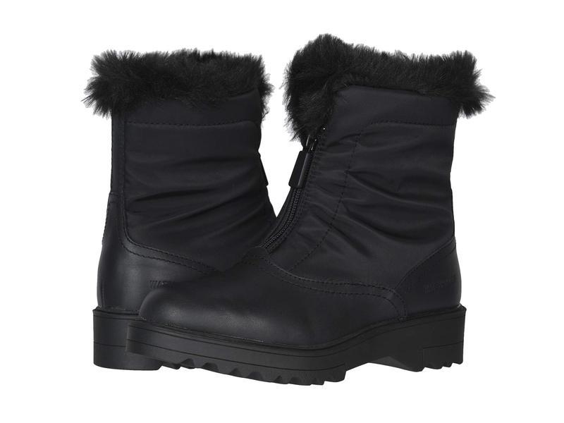 クーガー レディース ブーツ・レインブーツ シューズ Grandby-L Waterproof Black Leather/Nylon