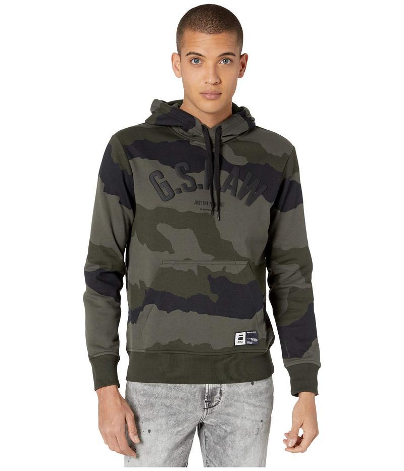 ジースター メンズ パーカー・スウェット アウター Graphic 13 Core Hooded Sweatshirt Long Sleeve Battle Grey/Asfalt