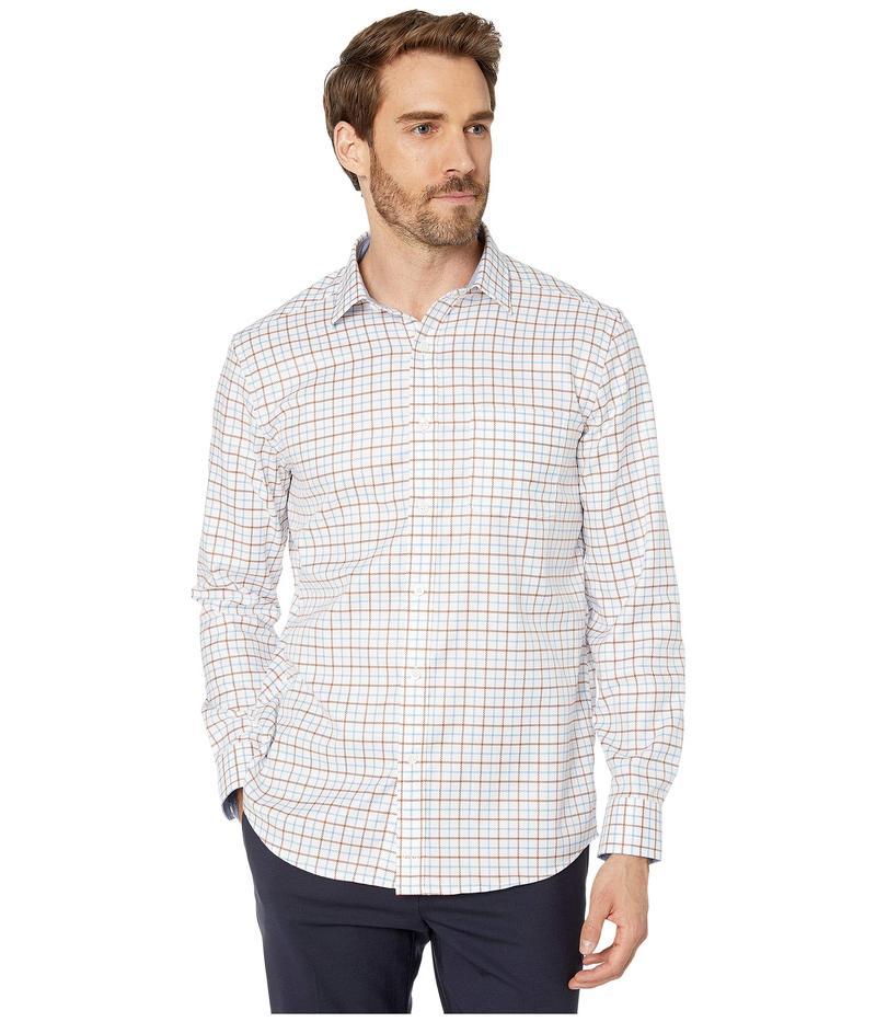 ジョンストンアンドマーフィー メンズ シャツ トップス XC4 Link Windowpane Shirt Rust/Blue