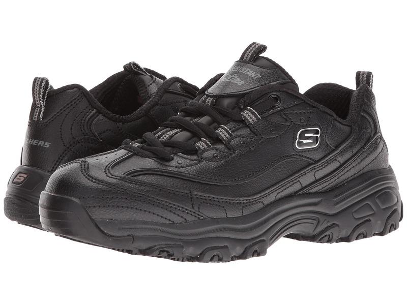 スケッチャーズ レディース スニーカー シューズ D'lite SR - Marbleton Black Embossed Leather/Trim
