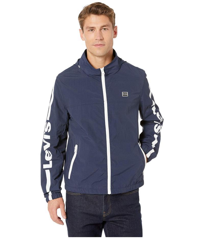 リーバイス メンズ コート アウター Taslan Logo Jacket Navy