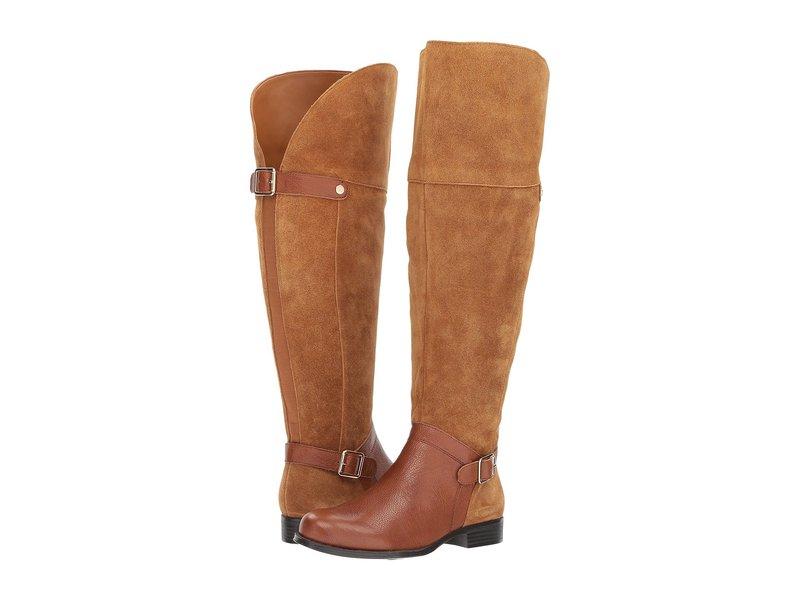 ナチュライザー レディース ブーツ・レインブーツ シューズ January WC Camel/Brown Suede/Tumbled Leather
