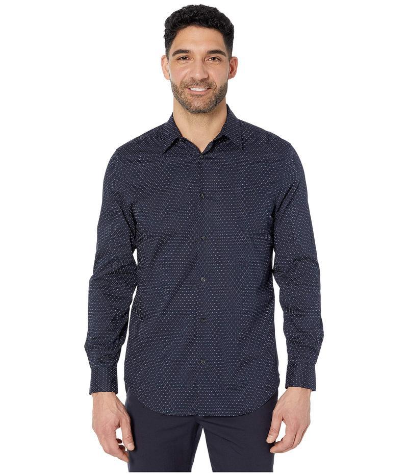 ペリーエリス メンズ シャツ トップス Regular Fit Stretch Printed Shirt Dark Sapphire