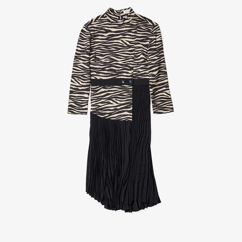 エーエルシー レディース ワンピース トップス Peyton Zebra Dress Black/Beige