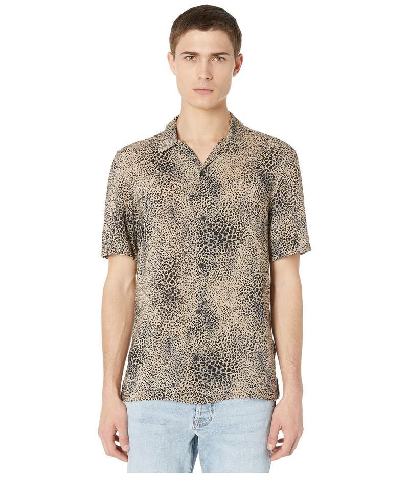 オールセインツ メンズ シャツ トップス Diffusion Short Sleeve Shirt Brown/Black