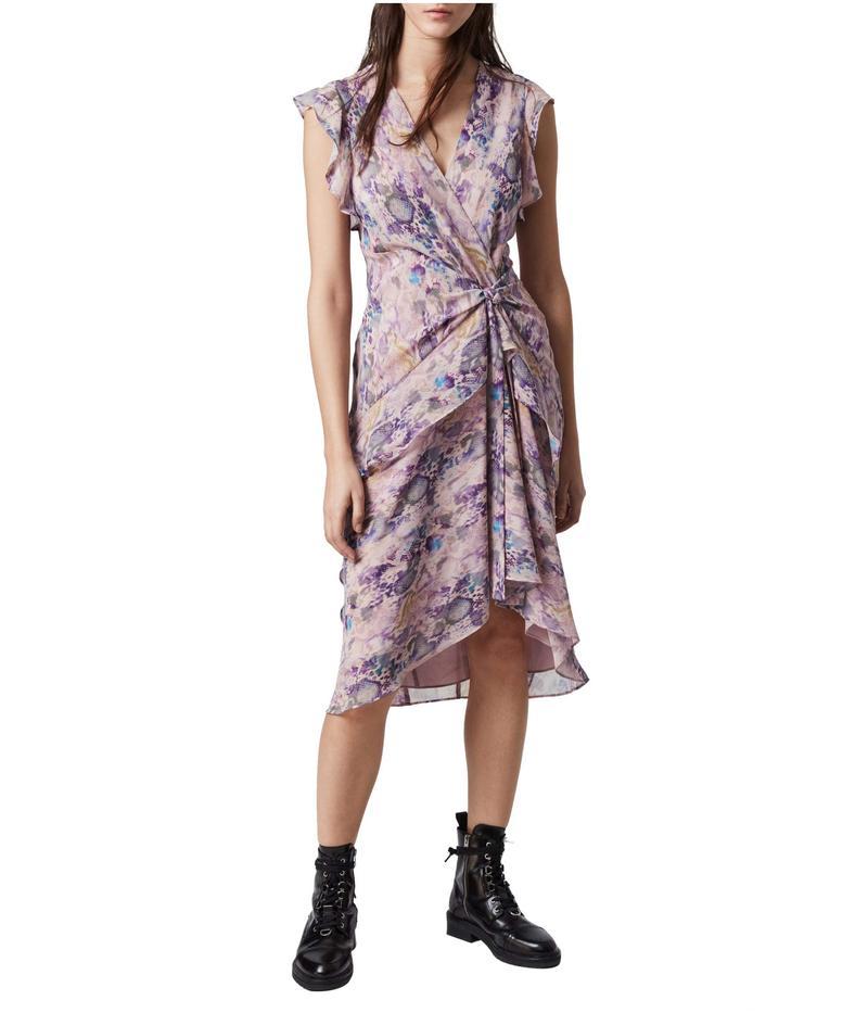 オールセインツ レディース ワンピース トップス Reila Expressive Dress Pink Mix