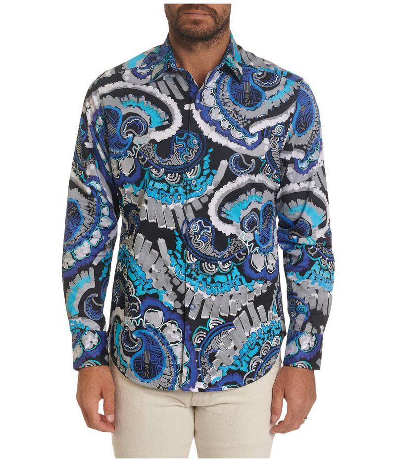 ロバートグラハム メンズ シャツ トップス Power Train Sport Shirt Blue